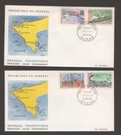 1966- Tourisme - Villages Et Hôtels, Baie De N'Gor, Gorée, Paquebot «France» En Rade De Dakar - 2 FDC - Senegal (1960-...)