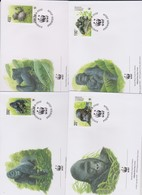 World Wide Fund For Nature 2002 Congo Orangun ,Set 4 Official First Day Covers - FDC