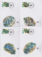 World Wide Fund For Nature 2002 Niue Giant Clam  ,Set 4 Official First Day Covers - FDC