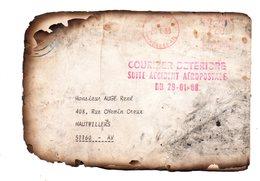 Courrier Détérioré Suite Accident Aeropostale Du 29-01-88. - Marcophilie (Lettres)