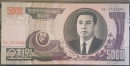 E11kb - North Koreaa 5000 Yuan Banknote (2006 Pick#46) - UNC - Corée Du Nord