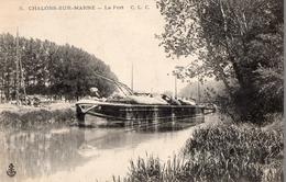 CPA Batellerie - 51 - CHALONS-SUR-MARNE - Le Port - Péniche - Châlons-sur-Marne