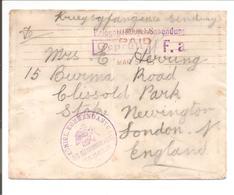 WO1 Kriegsgefangene.POW. Zensur Hameln>London England - 1. Weltkrieg