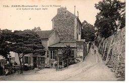 PARIS - Montmarte La Rue St - Vincent Et Le Cabaret Du Lapin Agile - Distretto: 18