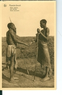 CP Ruanda-Urundi Vieux Copains Cliché Germain Van Den Eeckhaut Nels Années 1920 Ss. Détachée D'un Carnet - Ruanda-Urundi