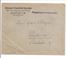 WO1 Kriegsgefangene.POW. Karlsruhe.Nationaler Frauendienst - 1. Weltkrieg