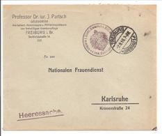 WO1 Kriegsgefangene.POW. Karlsruhe.Nationaler Frauendienst. DELEGIERTER - 1. Weltkrieg