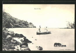 CPA Mauritius, Baie Du Cap, Flusspartie Avec Zwei Männern Im Bateau - Maurice