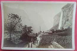 1853-95 Photo Sur Carton Le Staubbach Vallée De Lauterbrunnen éditeur Auguste Garcin Geneve Suisse Savoie - Anciennes (Av. 1900)