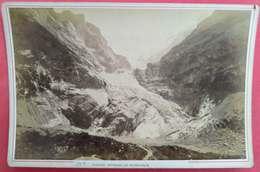 1853-95 Photo Sur Carton Glacier Supérieur De Grindelwald 295A éditeur Auguste Garcin Geneve Suisse Savoie - Anciennes (Av. 1900)