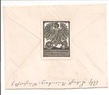 WO1 Feldpost.Siegelmarke 5Pf F:ur Kriegsfürsorge Stadt Nürnberg>Lüttich-Liege-Visé Belgique - 1. Weltkrieg
