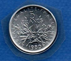 Semeuse -  5 Francs 1980 -  FDC  -scellée - France