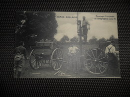 Guerre ( 193 ) Oorlog 1914 - 1918  Armée Anglaise  Leger  Soldats  Soldat  Soldaten Soldaat Poste Télégraphie - Guerra 1914-18