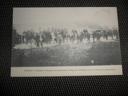 Guerre ( 195 ) Oorlog 1914 - 1918  Armée Leger  Soldats  Soldat  Soldaten Soldaat Spahis : Garnison à Mascara - Afrique - Guerra 1914-18