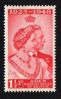 Aden. Seiyun. 1949 Royal Silver Wedding. SG 14. MH - Aden (1854-1963)