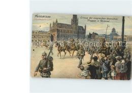 11679958 Bruessel Bruxelles Einzug Der Deutschen Truppen Illustration - Bélgica