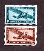 Indochine PA N°46,47 N** LUXE Cote 44 Euros !!! RARE - Indochine (1889-1945)
