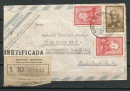 Argentina. 1967. Carta Dirigida De Gaboto, Distrito 1º A Valencia, España - Covers & Documents