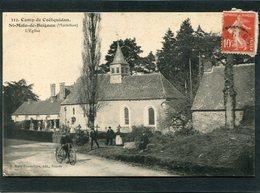 CPA - ST MALO DE BEIGNON - L'Eglise, Animé - Autres Communes