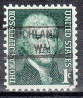 USA Precancel Vorausentwertung Preo, Locals Washington, Richland 841 - Vereinigte Staaten