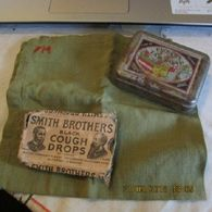 WW1 US Soldier's Group Soap Tin, Handkerchief And Cough Drop Box - 1914-18