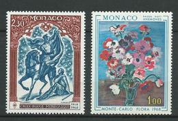 MONACO 1968 . N°s 742 Et 743 . Neufs ** (MNH) - Monaco