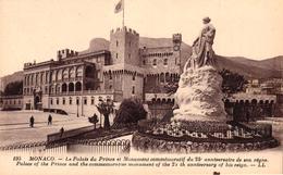 MONACO - MONACO LE PALAIS DU PRINCE ET MONUMENT COMMEMORATIF DU 25 E ANNIVERSAIRE DE SON REGNE - Unclassified