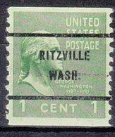 USA Precancel Vorausentwertung Preo, Bureau Washington, Ritzville 839-61 - Vereinigte Staaten
