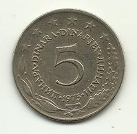 1975 - Jugoslavia 5 Dinara, - Jugoslavia