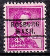 USA Precancel Vorausentwertung Preo, Locals Washington, Rosburg 729 - Etats-Unis