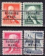 USA Precancel Vorausentwertung Preo, Locals Washington, Rosburg 729, 4 Diff. - Vereinigte Staaten