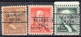 USA Precancel Vorausentwertung Preo, Locals Washington, Seahurst 729, 3 Diff. - Vereinigte Staaten