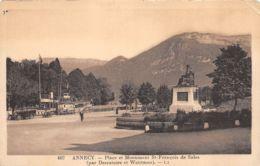 Annecy (74) - Place Et Monument St François De Sales - Annecy