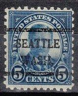 USA Precancel Vorausentwertung Preo, Bureau Washington, Seattle 586-42 - Vereinigte Staaten