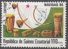 EQUATORIAL GUINEA     SCOTT NO. 105     USED     YEAR  1986 - Equatorial Guinea