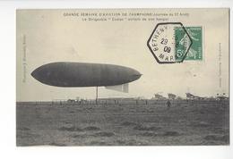 CACHET BETHENY AVIATION MARNE AEROSTATION DIRIGEABLE ZODIAC BALLON AIRSHIP /FREE SHIPPING R - Poste Aérienne