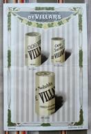 Carton Publicitaire  CHOCOLAT DE VILLARS FRIBOURG (Suisse) 300 301 302 - Suisse