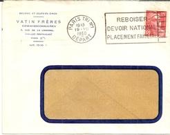 11B--PARIS TRI N° 1    Flier   Thème Bois   Vatin Frères, Beurre Et Oeufs En Gros - Oblitérations Mécaniques (flammes)