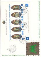 Saint Marin - Document FDC De 1977 ° - Oblit San Marino - Religieux - Centenaire Du Timbre - - Lettres & Documents