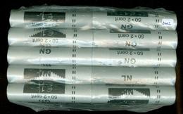 NEDERLAND 10 Bankrollen 2 Eurocent Jaar 2002 = 500 Munten UNC - Nederland