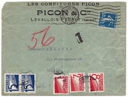 Lettre 1925 Levallois Perret Picon & Cie Confiture Jam Taxe Wien Österreich - France