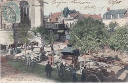 NEUBOURG - Place Du Marché Aux Porc - Carte Colorisée Et Animée - Le Neubourg