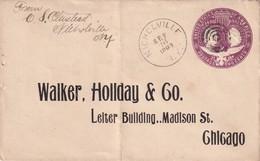 USA 1893 ENTIER POSTAL LETTRE DE NICHOLVILLE - ...-1900