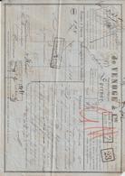 Lettre De Voiture Vve A. Vasseur & Fils, Epernay, 800 Bouteilles Champagne  -> Bordeaux 1882 - France