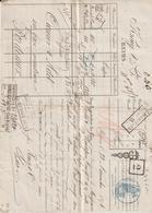 Lettre De Voiture Krug & Co, Reims, Vin Blanc,  -> Bordeaux 1874 - France