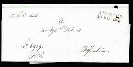 A5651) Vorphila Ansbach Briefhülle 9.7.1835 - Deutschland