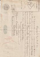 Lettre De Voiture J.Denis Henry Mounié & Cie, Cognac, Eau De Vie, Gabarage Orléans,  -> Bordeaux 1871 - France