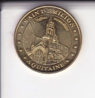 Jeton Médaille Monnaie De Paris MDp Saint Emilion L'eglise Monolithe 2005 - Monnaie De Paris