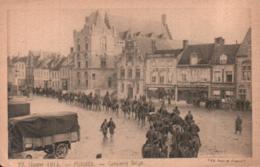 FURNES CAVALERIE BELGE PAS CIRCULEE - Guerra 1914-18