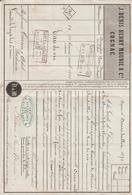 Lettre De Voiture J. Denis Henry Mounié & Cie, Cognac, Eau De Vie -> Bordeaux 1871 - France